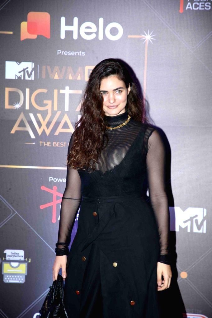 Model Gabriella Demetriades at the Red Carpet of MTV - IWMBuzz Digital Awards 2019 in Mumbai on Nov 12, 2019. - Gabriella Demetriades