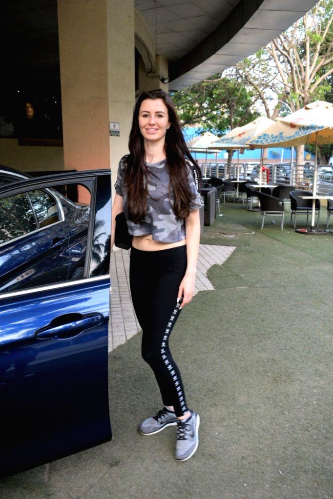 Model Giorgia Andriani seen at a Juhu cinema hall in Mumbai, on April 27, 2019. - Giorgia Andriani