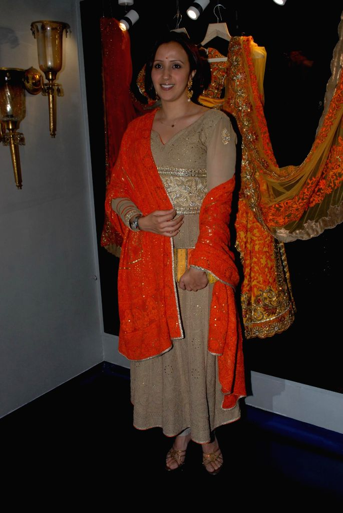 Model Ishita Arun during the store opening of designer Mayyur Girotra in Mumbai, on April 18, 2014. - Ishita Arun