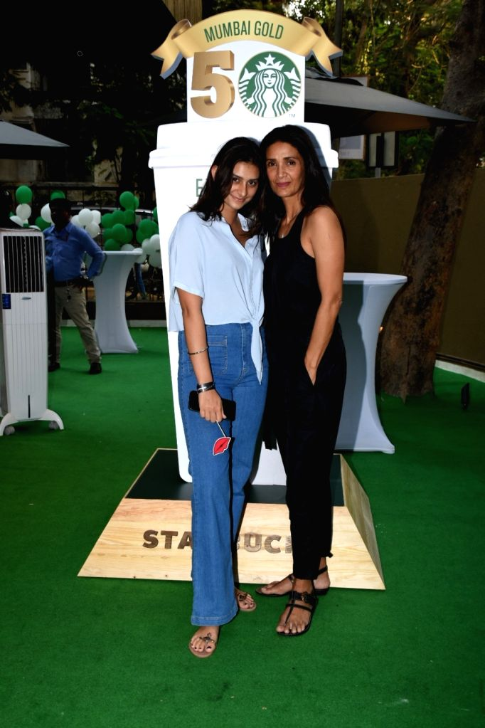 Model Mehr Jesia at 50th Starbucks launch in Mumbai, on April 25, 2019. - Mehr Jesia