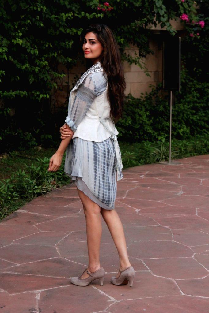Model Model Puja Gupta during the press conference of Gionee India Beach Fashion Week (GIBFW) 2015 in Mumbai on Oct 20, 2015. - Model Puja Gupta