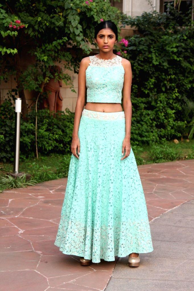 Model Neelam Virwani during the press conference of Gionee India Beach Fashion Week (GIBFW) 2015 in Mumbai on Oct 20, 2015. - Neelam Virwani