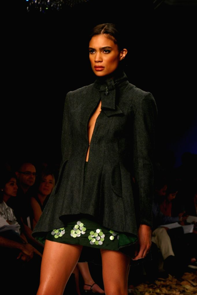 Model on the ramp for Designer Anjana Bhargav at Wills Lifestyle India Fashion Week 2009 in New Delhi on March 22.