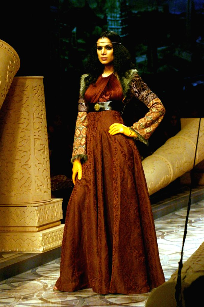 Model on the ramp for Designer J.J.Vala at Wills Lifestyle India Fashion Week 2009 in New Delhi on March 22.