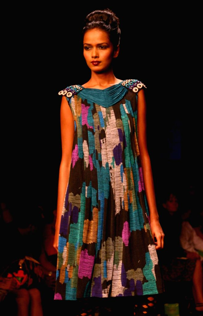 Model on the ramp for Designer  Rana Gill at Wills Lifestyle India Fashion Week 2009 in New Delhi on March 21.