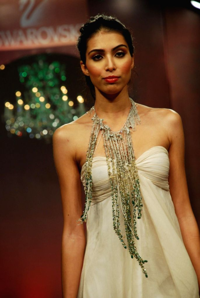 Model on the ramp for Swarovski Show in Mumbai.