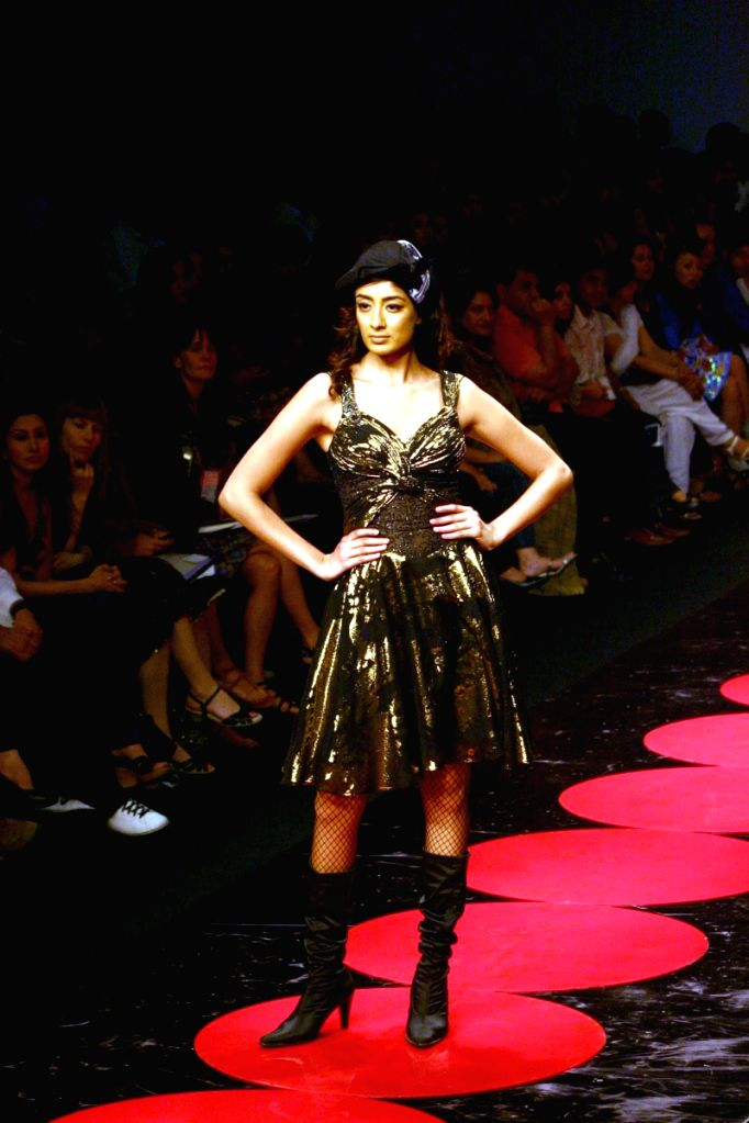 Model on the ramp for Wills Lifestyle India Fashion Week 2009 on March 21st