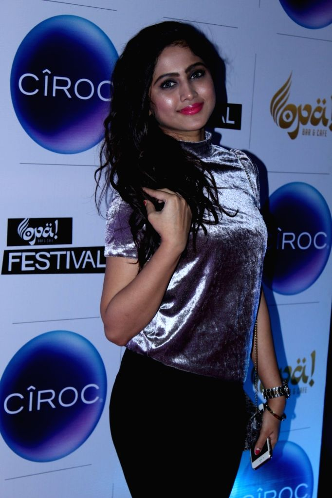 Model Sonal Gawde during the celebration of Opa Bar and Cafe 1st anniversary, in Mumbai on Nov 22, 2016. - Sonal Gawde