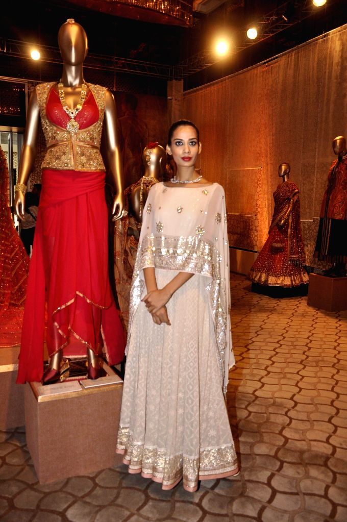 Model Soni Kaur during the sixth edition of the Bridal Couture Exposition in Mumbai on July 11, 2014. - Soni Kaur