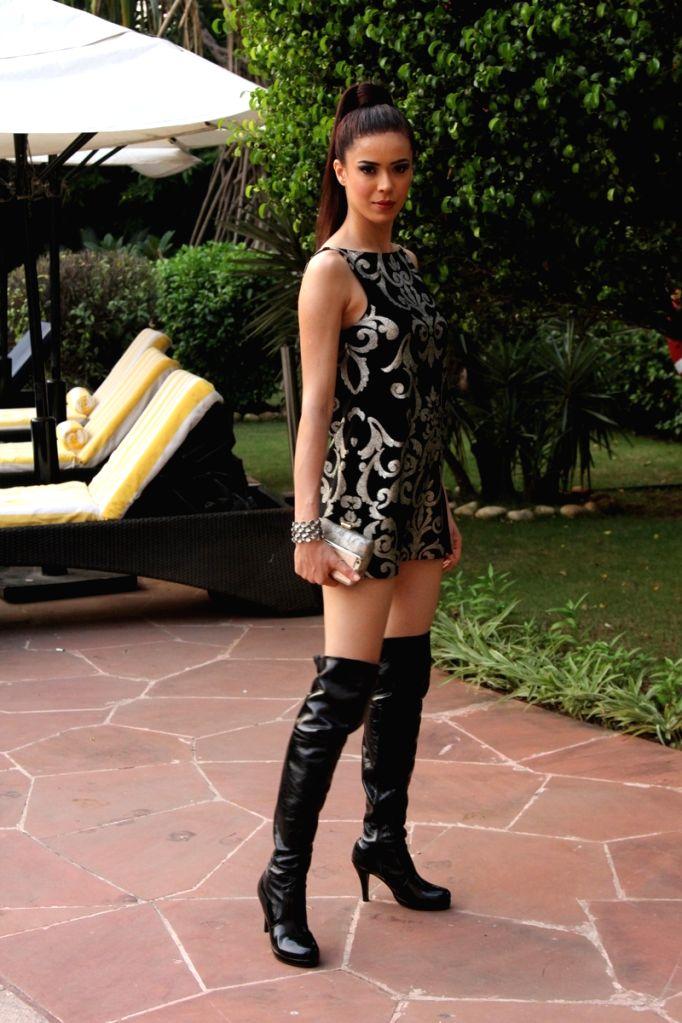 Model Sucheta Sharma during the press conference of Gionee India Beach Fashion Week (GIBFW) 2015 in Mumbai on Oct 20, 2015. - Sucheta Sharma