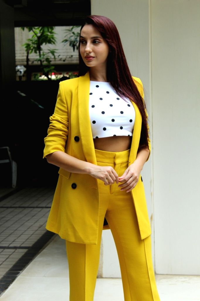 Model turned actress Nora Fatehi seen at T series' office in Mumbai on July 19, 2019. - Nora Fatehi