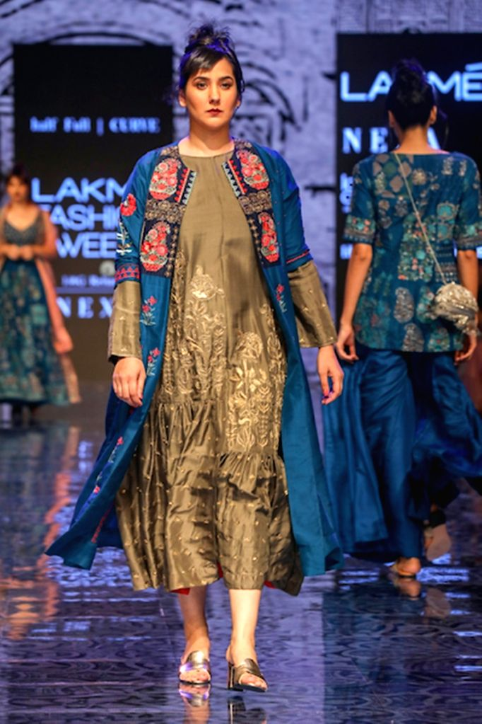 Model walks the walk wearing Payal Singhal's WinterFest 2019