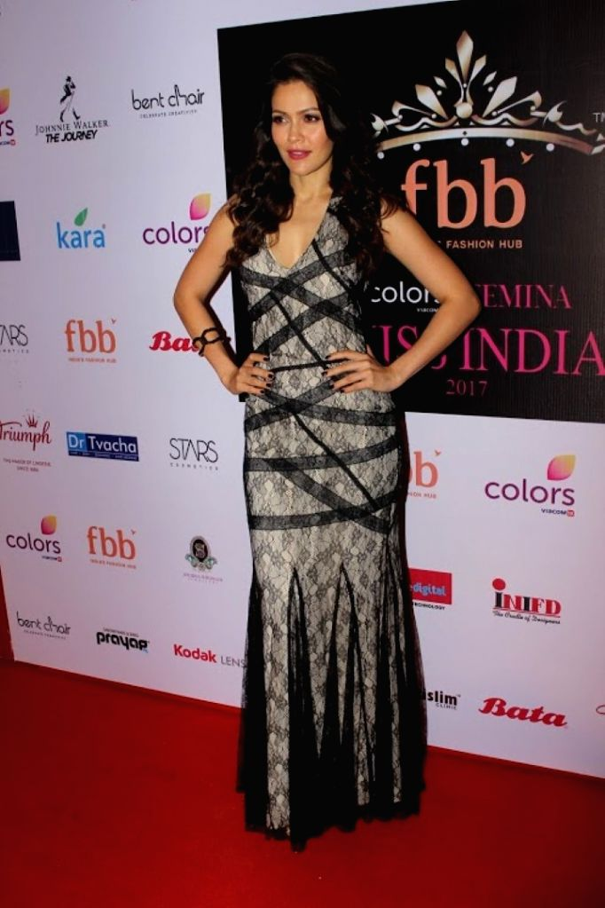 Model Waluscha de Sousa during the event organised to reveal the 30 state finalist of Miss India in Mumbai, on June 2, 2017. - Waluscha