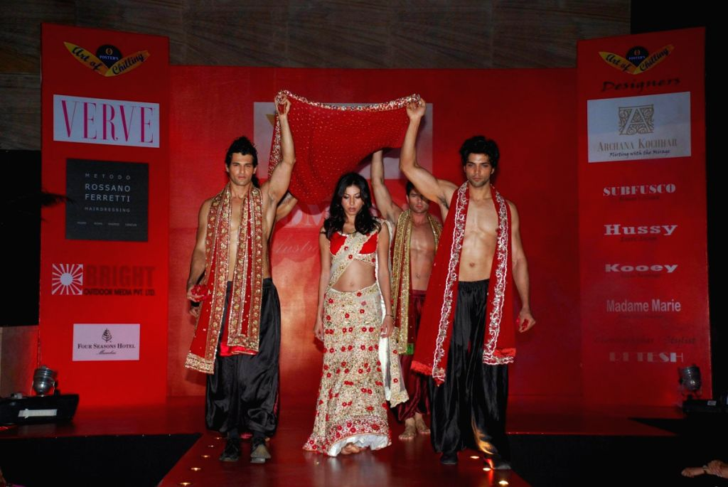 Models at Fosters Archana Kochhar Fashion Show in Mumbai.