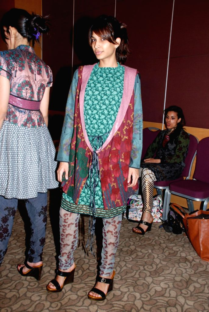 Models at Lakme Fashion Week Fittings.