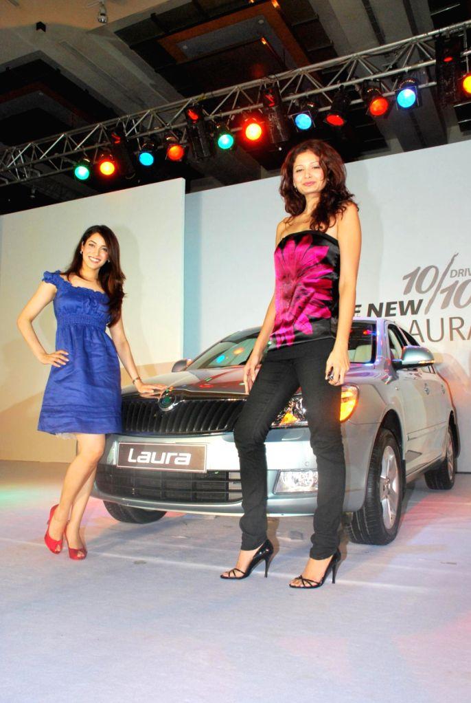 Models at Skoda Laura launch at Grand Hyatt.