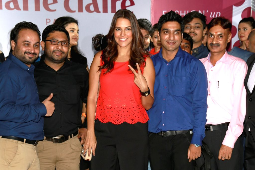 Models at the India launch of the international premium French lifestyle brand Marie Claire in New Delhi on June 22, 2016.