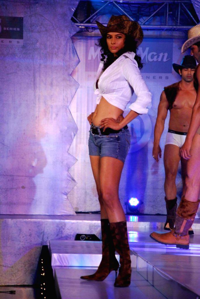 Models at the launch of Macorman men's innerwear.