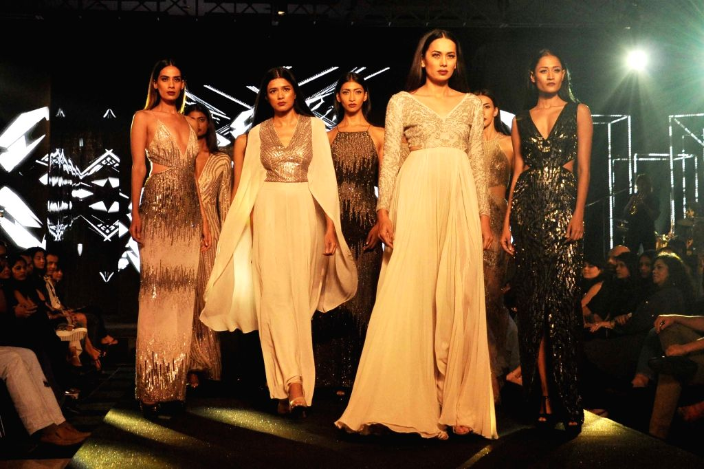 Models during Blenders Pride Fashion Tour 2016 in Kolkata on Nov 26, 2016.