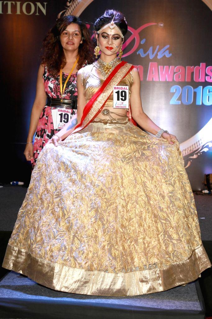 """Models during """"I Diva Salon Awards"""" in New Delhi on Sept 20, 2016."""