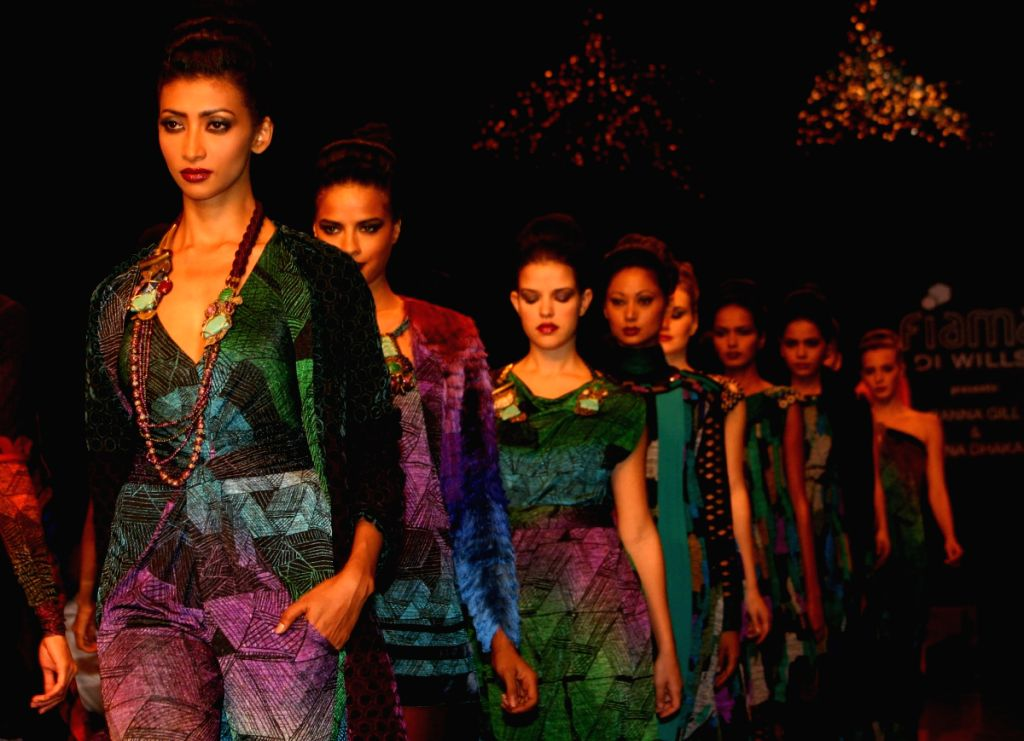 Models on the ramp for Designer  Rana Gill at Wills Lifestyle India Fashion Week 2009 in New Delhi on March 21.