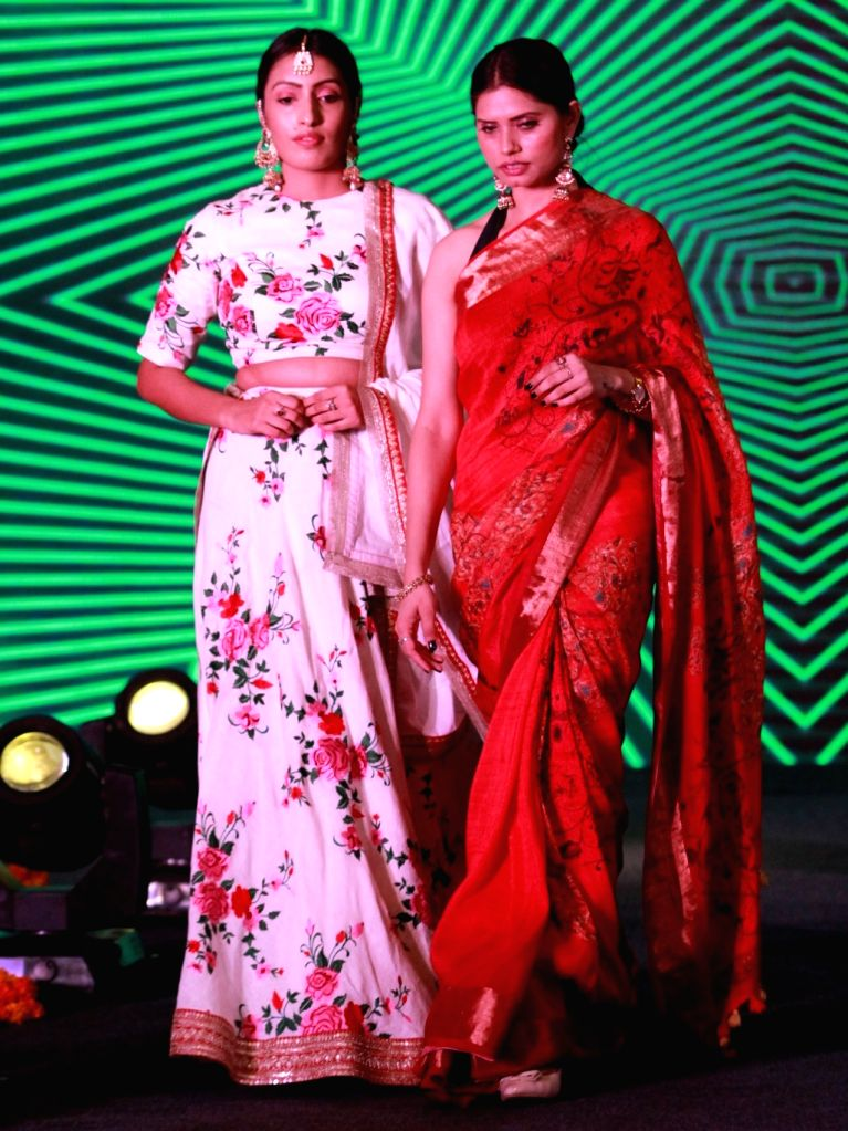 Models showcase the collection from the newly launched store of  Linen Club, a linen fabric brand from the Aditya Birla Group, in New Delhi on Sep 13, 2019.