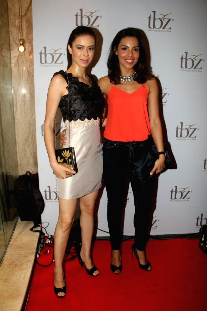 Models Sucheta Sharma and Deepti Gujral during the launch of Tribhovandas Bhimji Zaveri- TBZ, new Jewellery store in Mumbai on Oct 21, 2015. - Sucheta Sharma