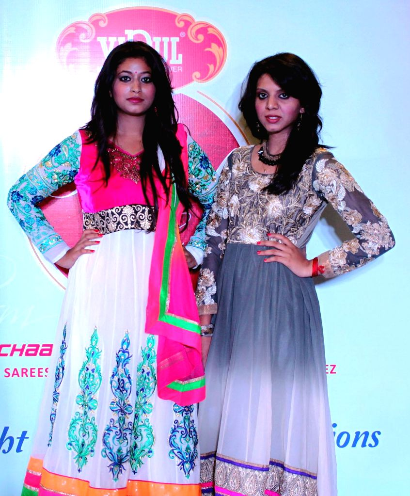 Models walk the ramp during Vipul Model Hunt in Bangalore on Aug 17, 2014.