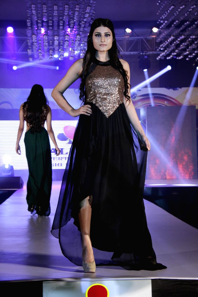 Models walk the ramp for designer Manali Jagtap fashion show  in Mumbai on 24th March 2015.