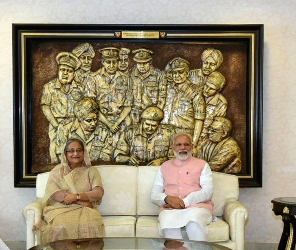 "Modi-Hasina inaugurated ""Bangabandhu-Bapu Digital Exhibition"""