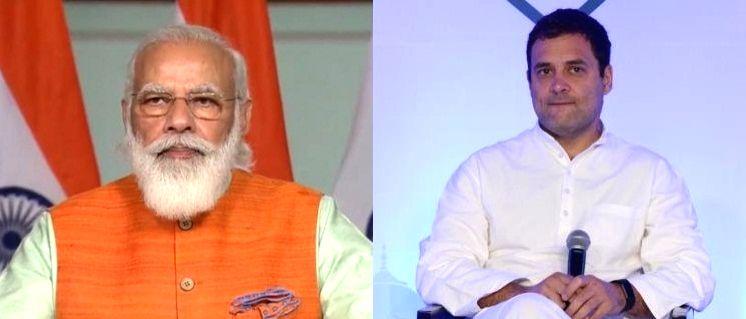 Modi, Rahul pay tributes to Nehru on his 131st birth anniversary.