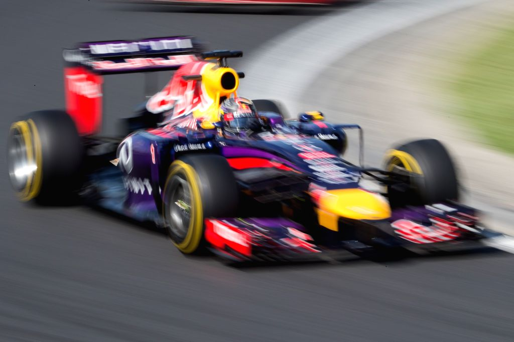 Scuderia Torro Rosso driver Danyiil Kvjat of Russia drives his car during the second free practice session of the F1 Hungarian Grand Prix at Hungaroring in ...
