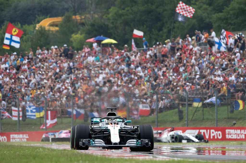 MOGYOROD, July 29, 2018 - Mercedes AMG Petronas F1 Team's Lewis Hamilton competes during the qualifying session of the Hungarian Formula One Grand Prix at Hungaroring in Mogyorod, Hungary, on July ...