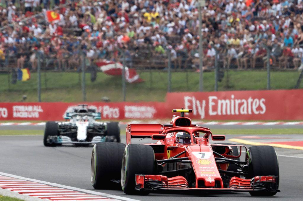 MOGYOROD, July 29, 2018 - Scuderia Ferrari's Kimi Raikkonen competes during the qualifying session of the Hungarian Formula One Grand Prix at Hungaroring in Mogyorod, Hungary, on July 28, 2018. Kimi ...