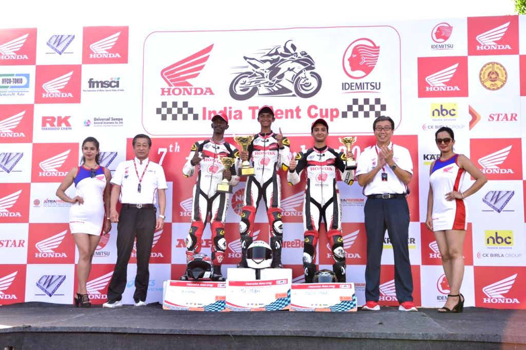 Moh. Mikail, Geoffrey and Kritik Habib grab podium positions in IDEMITSU Honda India Talent Cup- NSF250R category