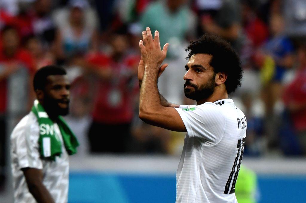 Mohamed Salah (R). (Xinhua/Li Ga/IANS)
