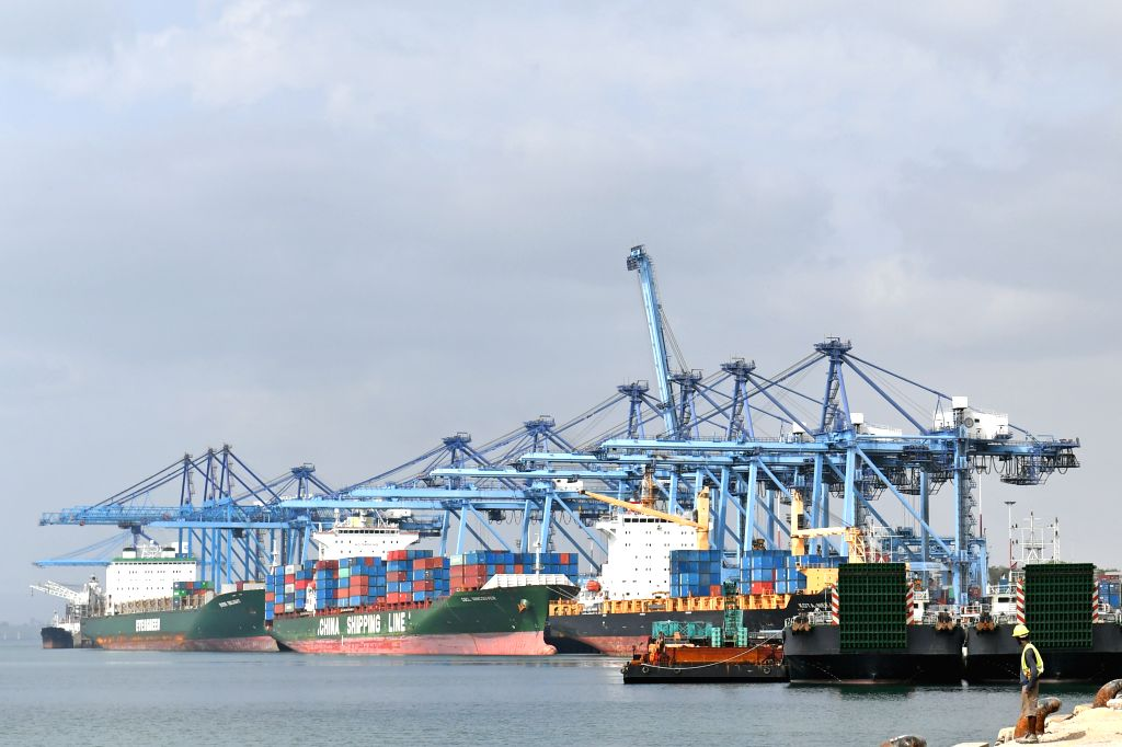 MOMBASA, Jan. 13, 2017 - Photo taken on Jan. 9, 2017 shows East Africa's largest port Mombasa Port in Mombasa, Kenya. Being East Africa's largest port, Mombasa port serves as an important logistic ...