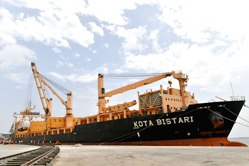 MOMBASA, Jan. 13, 2017 - Workers unload the first batch of locomotives of the Standard Gauge Railway at Mombasa Port in Mombasa, Kenya, Jan. 9, 2017. Being East Africa's largest port, Mombasa port ...