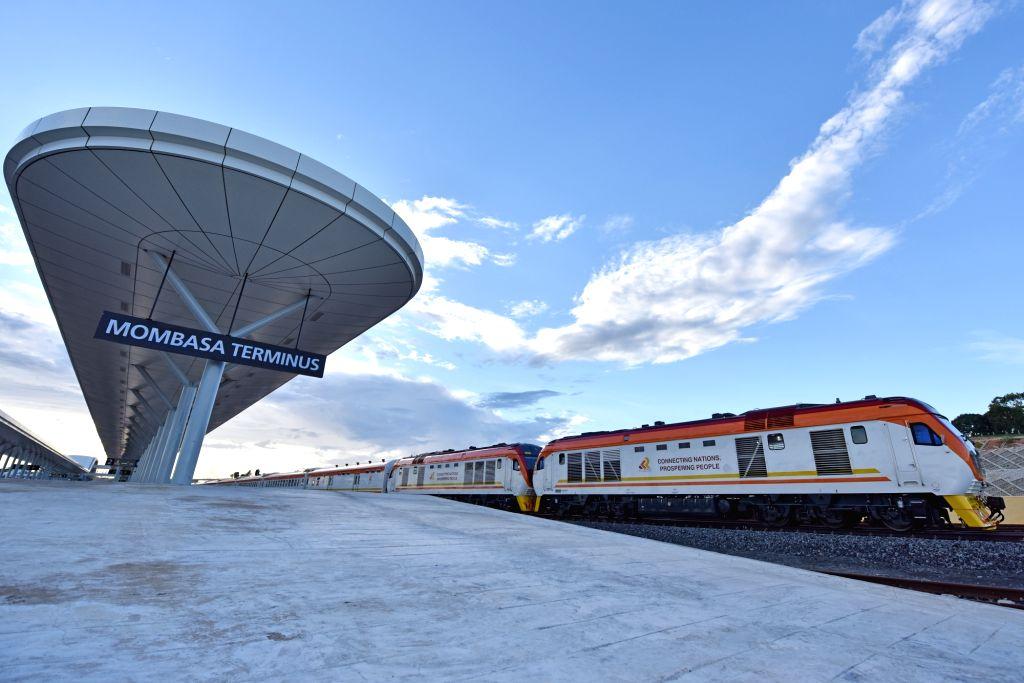 MOMBASA, May 30, 2017 - A train runs out of one station of Kenya's Mombasa-Nairobi Railway on May 29, 2017. The 480 km railway linking Kenya's largest port city Mombasa to capital Nairobi, slated to ...