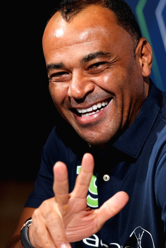 MONACO, Feb. 18, 2019 - Laureus Academy member, legendary Brazil football player Cafu reacts during an interview in Monaco, Feb. 17, 2019, one day ahead of 2019 Laureus World Sports Awards ceremony.