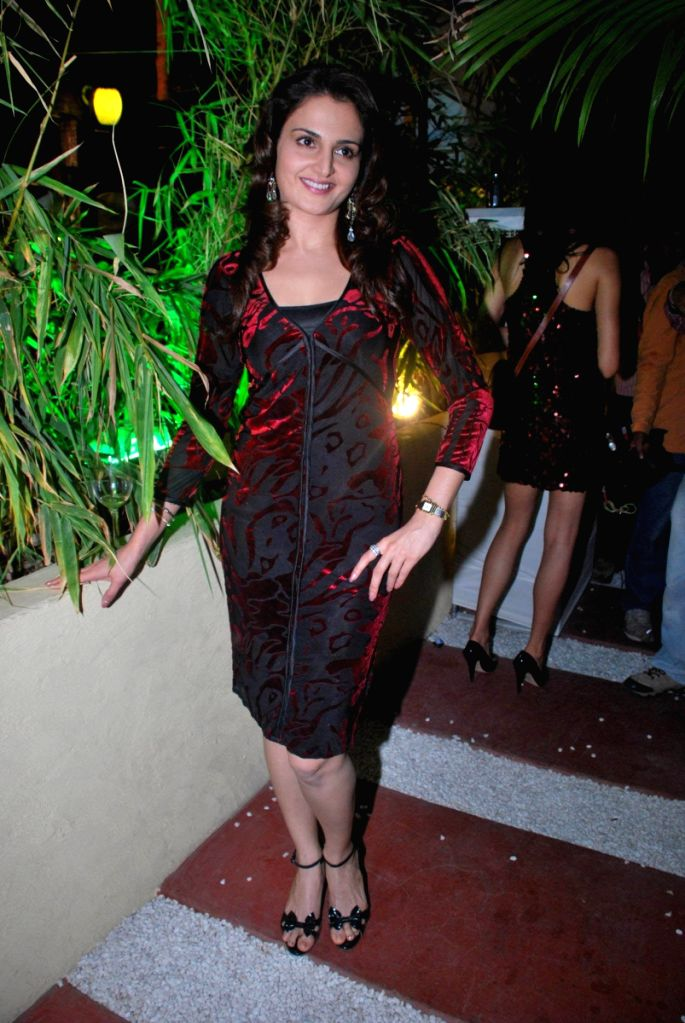 Monica Bedi at Sheesha Sky Lounge at D Ultimate Club in Mumbai.