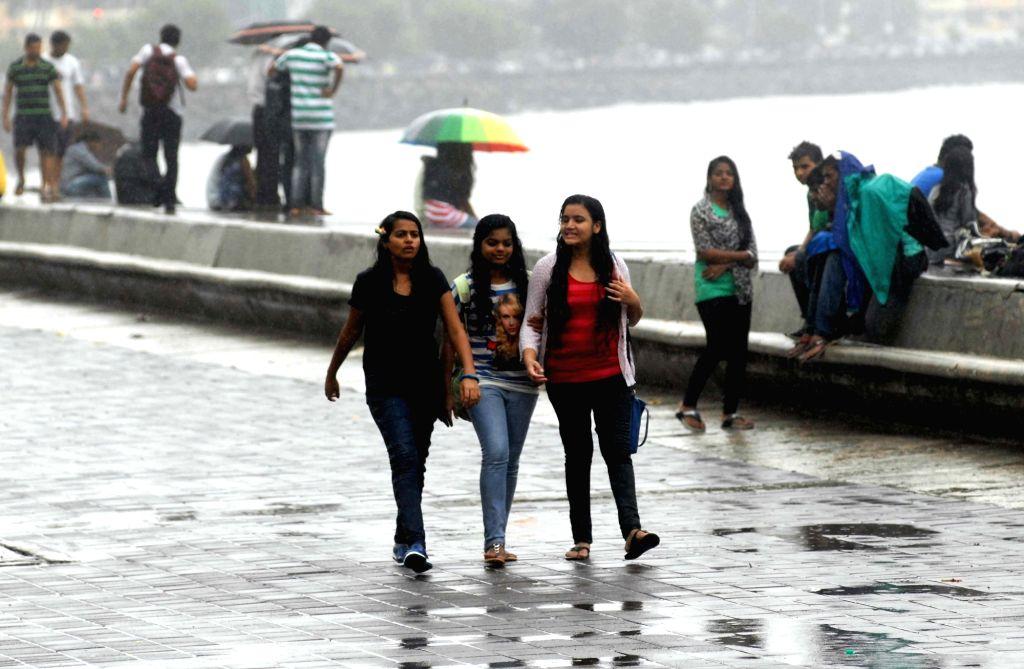 Monsoon arrives in Mumbai on June 20, 2016.