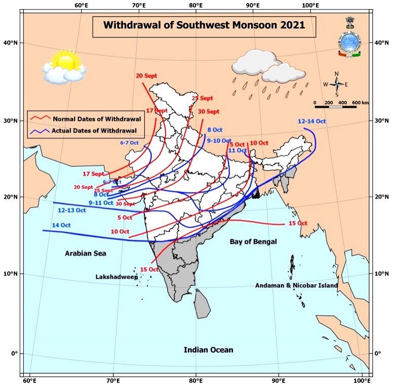 monsoon withdrawal