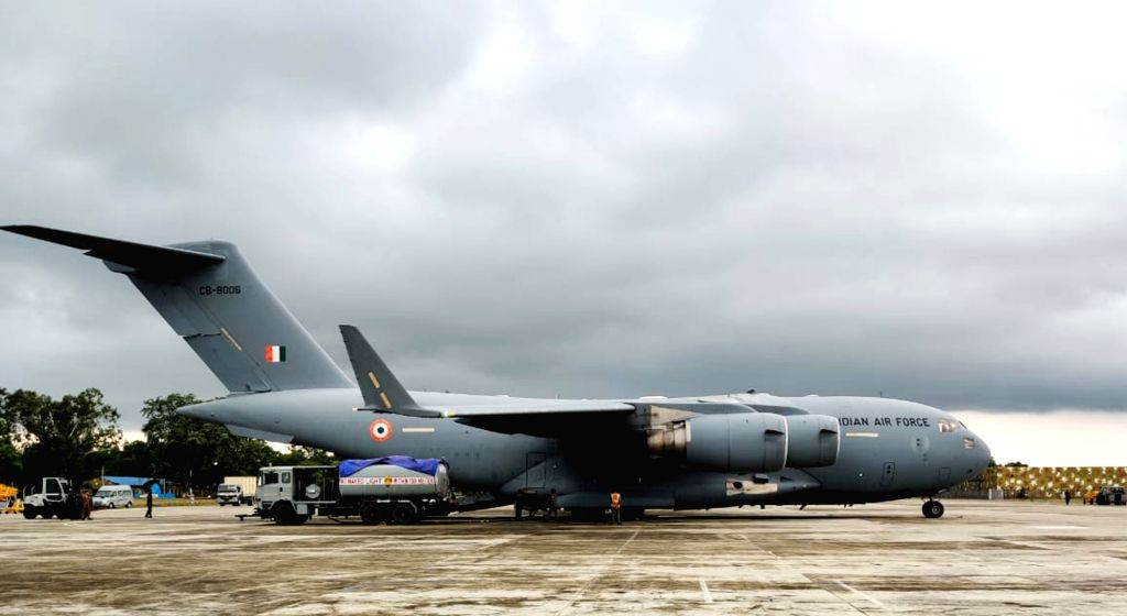 Mont-de-Marsan: A C-17 Globemaster-III of IAF landing at Air Force Station Bareilly after culmination of Ex Garuda-VI held at Mont-de-Marsan, France, on July 19, 2019.