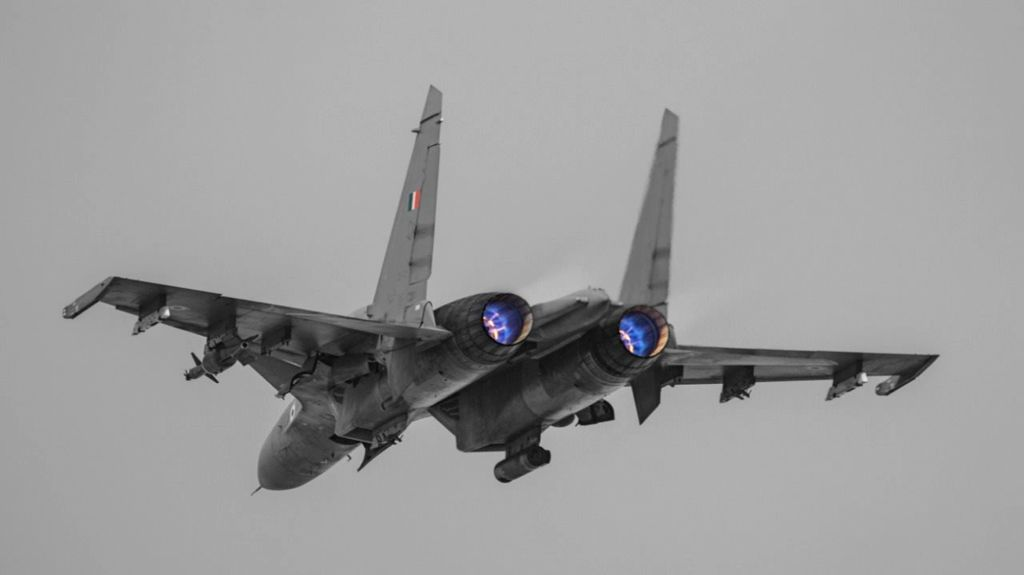 Mont-de-Marsan: An IAF Su-30 MKI participating during Ex Garuda-VI held at Mont-de-Marsan, France.