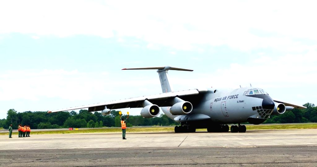 Mont-de-Marsan: An IL78 Tanker of IAF landing at Air Force Station Bareilly after culmination of Ex Garuda-VI held at Mont-de-Marsan, France, on July 19, 2019.