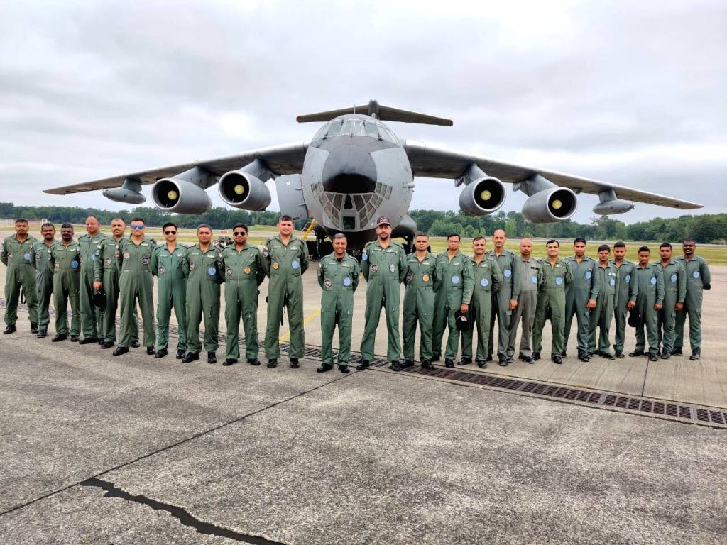 Mont-de-Marsan: Indian Air Force (IAF) contingent has landed in Mont-de-Marsan in France to participate in a bilateral exercise 'Garuda-VI' with the French Air Force. The IAF contingent was received by Colonel Gaudillere, Base Commander, Air Base Mon
