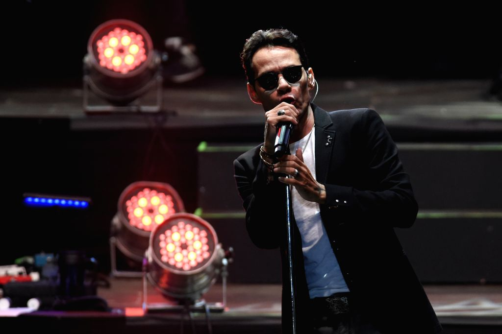 """MONTEVIDEO, Apr. 15, 2016 - Puerto Rican singer Marc Anthony performs during a concert as part of his 2016 South American tour """"Marc Anthony Live"""", at Centenario Stadium in Montevideo, ..."""