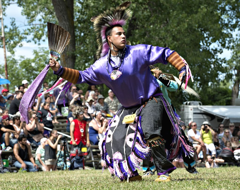 MONTREAL, July 14 People take part in the 34th annual Echos of a Nation Powwow near Montreal, Canada, on July 14, 2014. The event is one of many traditional gatherings in North America ...
