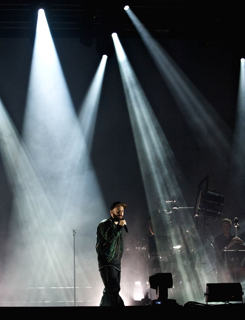 French singer 'Woodkid' Yoanne Lemoine performs during the Montreal International Jazz Festival in Montreal, Canada, on June 26, 2014. The 35th edition of the ...